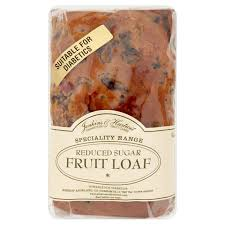 Reduced sugar fruit loaf