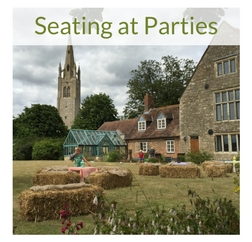 Straw bales party seating