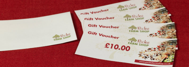Pecks Farm Shop Gift Vouchers