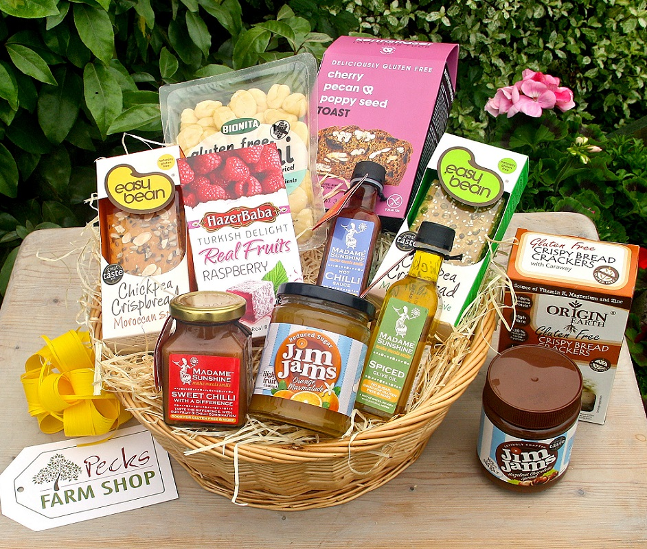 Gluten free hamper pecks farm shop and hampers gluten free hamper milton keynes negle