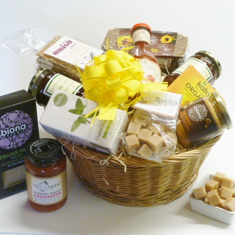 Organic farmhouse hamper gift