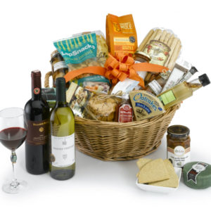 hamper with wine pecks farm shop leighton buzzard
