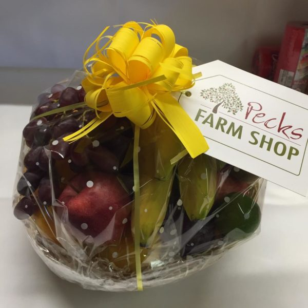 fruit hamper pecks farm shop