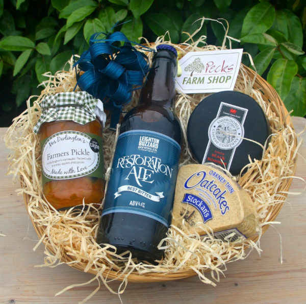 real ale mens hamper pecks farm shop leighton buzzard